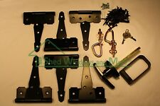 "Shed Door Hardware Kit 5"" Colonial Hinges, T-Handles, Barrel Bolts, Barn Door"