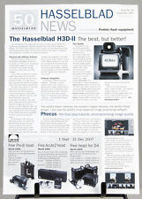 HASSELBLAD NEWS publication booklet H3D-II Issue50 Sept 2007 8 pages