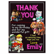 i066; PAW Patrol Personalised invites; any age e.g. 1st 2nd 3rd 4th 5th 6th 7th