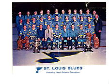1968 1969 ST. LOUIS BLUES 8X10 TEAM PHOTO NHL  HOCKEY MISSOURI HOF USA