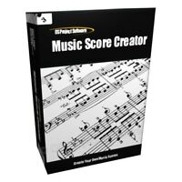 Music Sheet Score Creator Printer Notation PC MAC Software Program