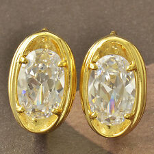 Sparkling 9K Yellow Gold Filled White Cubic Zirconia Hoop Earrings,New F4635