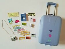 Retired American Girl Pull Suitcase Travel Lot  Bag Accessories for GRACE Goty