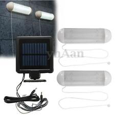 2PCS 10SMD SOLAR POWERED GARDEN SHED GARAGE STABLE LIGHT RECHARGEABLE