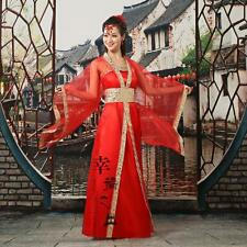 Red New Chinese Ancient Traditional Tang Infanta Dramaturgic Costume Robe Dress