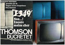PUBLICITE  1968   DUCRETET-THOMSON  téléviseur ( 2 pages)