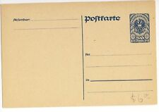 Austria 1920 50h blue Postal Stationery Post Card  Mint