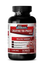 Creatine Tablets - Creatine Tri-Phase 5000 mg - Increased Power Output 1B