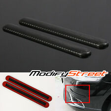 2 x 310x35mm CARBON FIBER STYLE BUMPER/DOOR JDM SCRATCH PROTECTOR STRIP GUARD