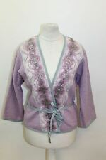 BNWT MOSCHINO Ladies Purple 3/4 Sleeve Embellished Kimono Jacket UK10 EU38