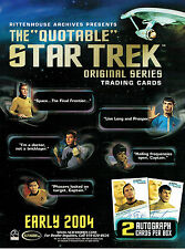 THE QUOTABLE STAR TREK TRADING CARDS SELL SHEET