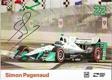 2016 SIMON PAGENAUD signed INDIANAPOLIS 500 HP RACE PHOTO CARD POSTCARD INDY CAR