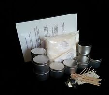 FANTASTIC & EASY CANDLE MAKING KIT  - Candle Tin-Soy Wax-Wicks & Stickuums
