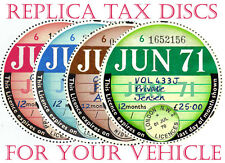 """TAX DISCS.2 QUALITY REPLICAS FOR THE DISCERNING OWNER .ALL YEARS FROM 1921-2026"""""""
