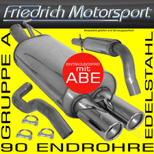 FRIEDRICH MOTORSPORT V2A ANLAGE AUSPUFF BMW 316i 318i Limousine+Coupe+Touring E4