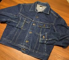 Vtg 70s mens blue denim LEE 153438 jacket union label USA riders No Size See Pic
