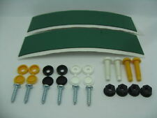 Number Plate Sticky Pads Screws Bolts and Caps Yellow Black White Front Rear Kit