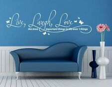 Live, Laugh, Love... - Wall Decal Stickers