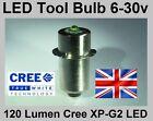 6 to 30V LED Bulb for 9.6, 12, 14.4, 18 & 24 volt Makita, Bosch, DeWalt Torches