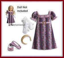 "American Girl CAROLINE HOLIDAY GOWN  Purple Christmas Outfit for 18"" Dolls NEW"