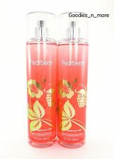 2 New Bath & Body Works PEARBERRY Fragrance Body Mists (8 oz)