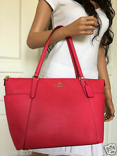 NWT COACH BEAUTIFUL HOT PINK PEBBLED LEATHER SHOULDER TOTE BAG PURSE HANDBAG