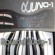 ROLAND Juno-1 Huge Original Factory & new Created Sound Library & Editors on CD