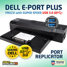 Dell USB 3.0 E-Port Plus Advanced Docking Station Replicator PR02X T0J21 GNPHP