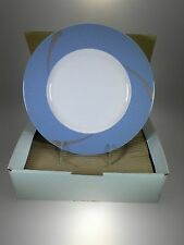 """Noritake Ambience Blue Accents Plates 9.5"""" Set of 4 BRAND NEW"""