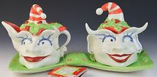 Mark Switzer Silvestri Christmas Creamer Sugar Bowl Switzer Swimbles Elf Set NWT