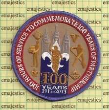BSA MORMON LDS 2013 100 HOURS OF SERVICE 100 YEARS PATCH