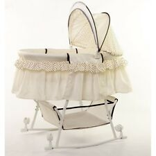 Dream On Me Lacy Portable 2 In 1 Bassinet And Cradle Cream Baby Bassinets