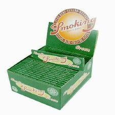 20 Stück SMOKING Papers GRÜN KingSize Hanf Papier Blättchen, Neu