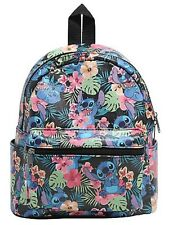 Disney Lilo & Stitch Floral Mini Faux Leather Backpack School Book Bag Gift NWT!