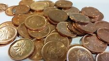 FULL ROLL 2010 NON MAGNETIC CANADA ONE CENT PENNIES CIRCULATED