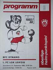 Programm 1985/86 BFC Dynamo - Lok Leipzig