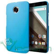 Custodia back cover AZZURRA per Motorola Google Nexus 6 case rigida sottile