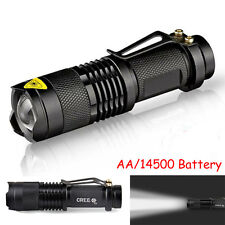300LM Mini CREE Q5 Torcia Luce flash LED Regolabile Focus A zoom