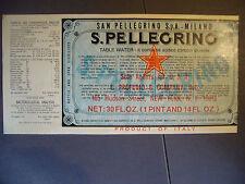 ACQUA MINERALE SAN PELLEGRINO (BERGAMO)  1970 PROFUMO & COMPANY NEW YORK