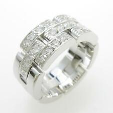 Authentic Cartier Maillon Panther half Diamond ring  #260-001-850-1841