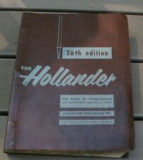 1960 Hollander 26th Edition Interchange for Automobile & Truck Parts
