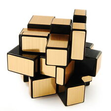 US Shengshou Golden 3X3 Speed Mirror Cube Magic Puzzle Black Hot Sale Toy New
