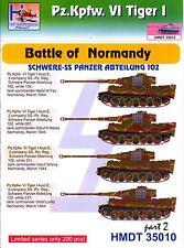 H-Models Decals 1/35 TIGER I BATTLE OF NORMANDY SCHWERE-SS PANZER ABTEILUNG 102