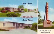 two views of the HOLLYWOOD MOTEL AND RESTAURANT BATON ROUGE, LA S M Cashio owner