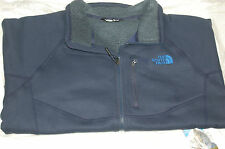 the north face mens timber full zip fleece jacket relaxed fit cosmic blue medium