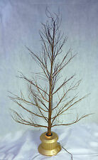 72 Inch Brown Fibre Optic Twig Tree - Gold Base - Christmas Tree (FO72TGB)