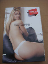 New Black HANES Sexy G-String panties, underwear, knickers,briefs size 8 S
