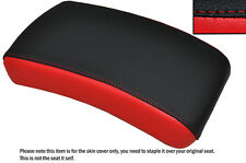 BLACK & BRIGHT RED CUSTOM FITS YAMAHA XVS 650 DRAGSTAR REAR LEATHER SEAT COVER