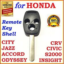 Honda Accord/CRV/Civic/City/Jazz/Odyssey/S2000 3 Button Key Remote Shell