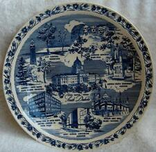 Vernon Kilns South Dakota blue collector state plate~Mount Rushmore~Sturgis-NR
